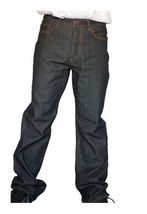Dissizit! Danger 5-pocket Classic Fit Raw Black/Indigo Denim Jeans NWT image 3