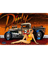 Dirty Lowrider Pin-Up Metal Sign - $29.95