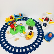 Playmobil 123 Lot 31 Pieces Train Plane Car Park Rattle Rocker Horse Fig... - $61.70
