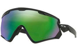 Oakley Sunglasses  OO7072-01 Wind Jacket 2.0 Matte Black Prizm Snow Jade... - $151.47