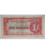 British Armed Forces Special Voucher ONE SHILLING 2nd Series 1952 USA - $11.69