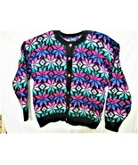 Best American Clothing Co. Wool Blend Cardigan Sweater Button Down Nordi... - $18.69