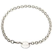 "Tiffany & Co.Argent Sterling "" Veuillez Return To "" Ovale Étiquette Link - $311.86"
