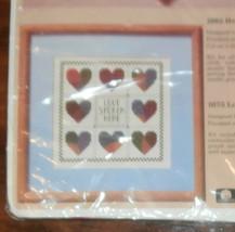 "Creative Circle #1675 Love Spoken Here Unopened 9"" x 9"" Cross Stitch - $9.74"