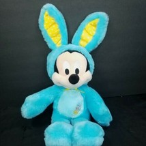 """Disney Store Marshmallow Scented Mickey Mouse 18"""" Plush Easter Bunny Blue 2016 - $29.69"""