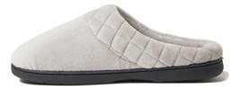 Dearfoams Women's Elaine Microfiber Terry Moc Toe Clog Slipper Grey Pewter M - $23.99