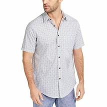 Tasso Elba Men's Ninavee Print Collared Button-Down Shirt (White, 2XL) - $15.05