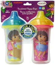 Munchkin Dora the Explorer Click Lock Insulated Sippy Cup, 9 Ounce, 2-Count - $15.50