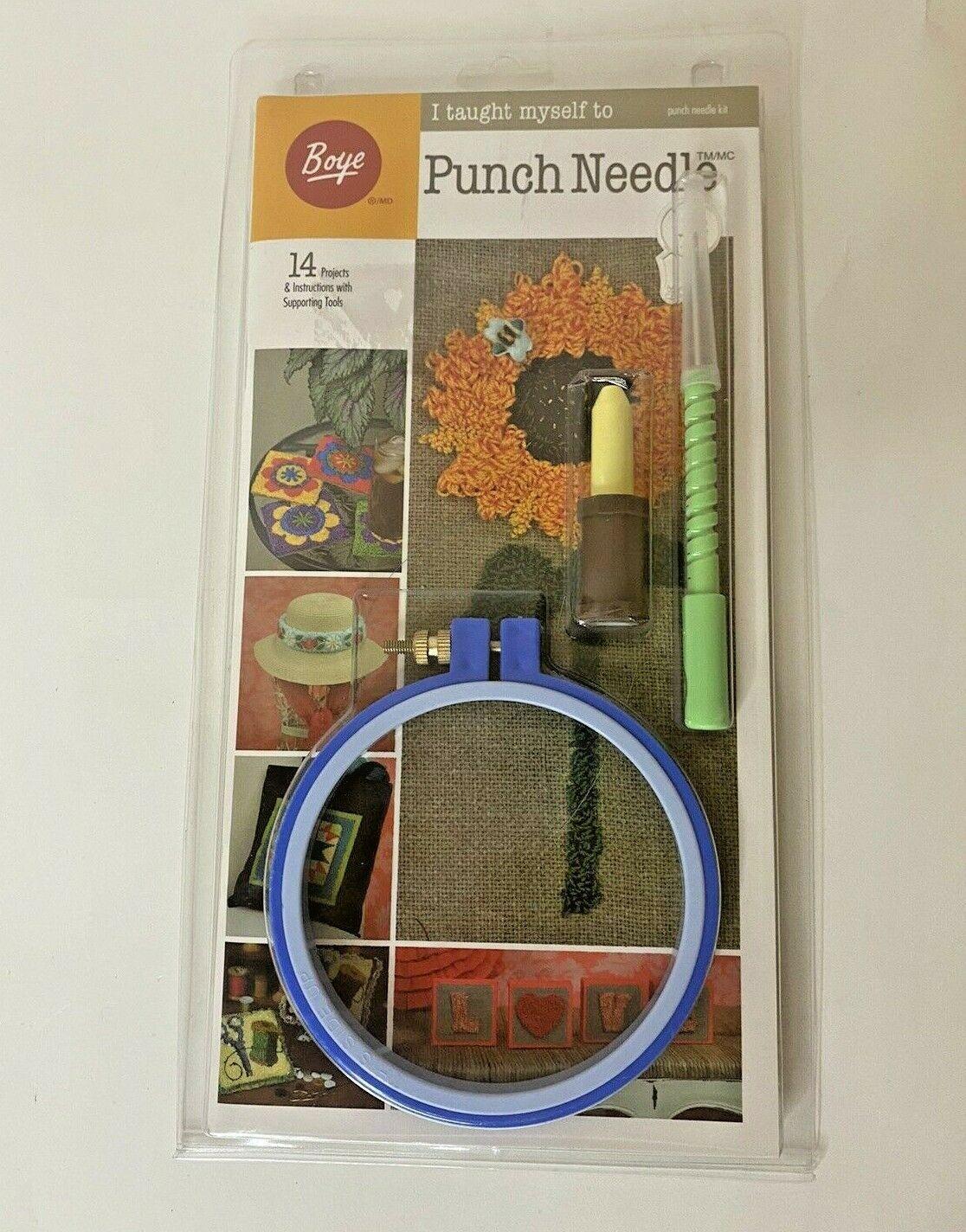 Boye I Taught Myself To Punch Needle Kit NEW - $13.85