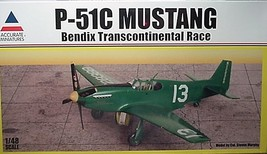Accurate Miniatures 1/48 Kit 0013,  P-51C Mustang,  Bendix Transcontinental Race image 2