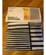 """Room Essentials Shower Curtain 72""""×72"""" Black & White Stripe Design, New!... - $12.86"""