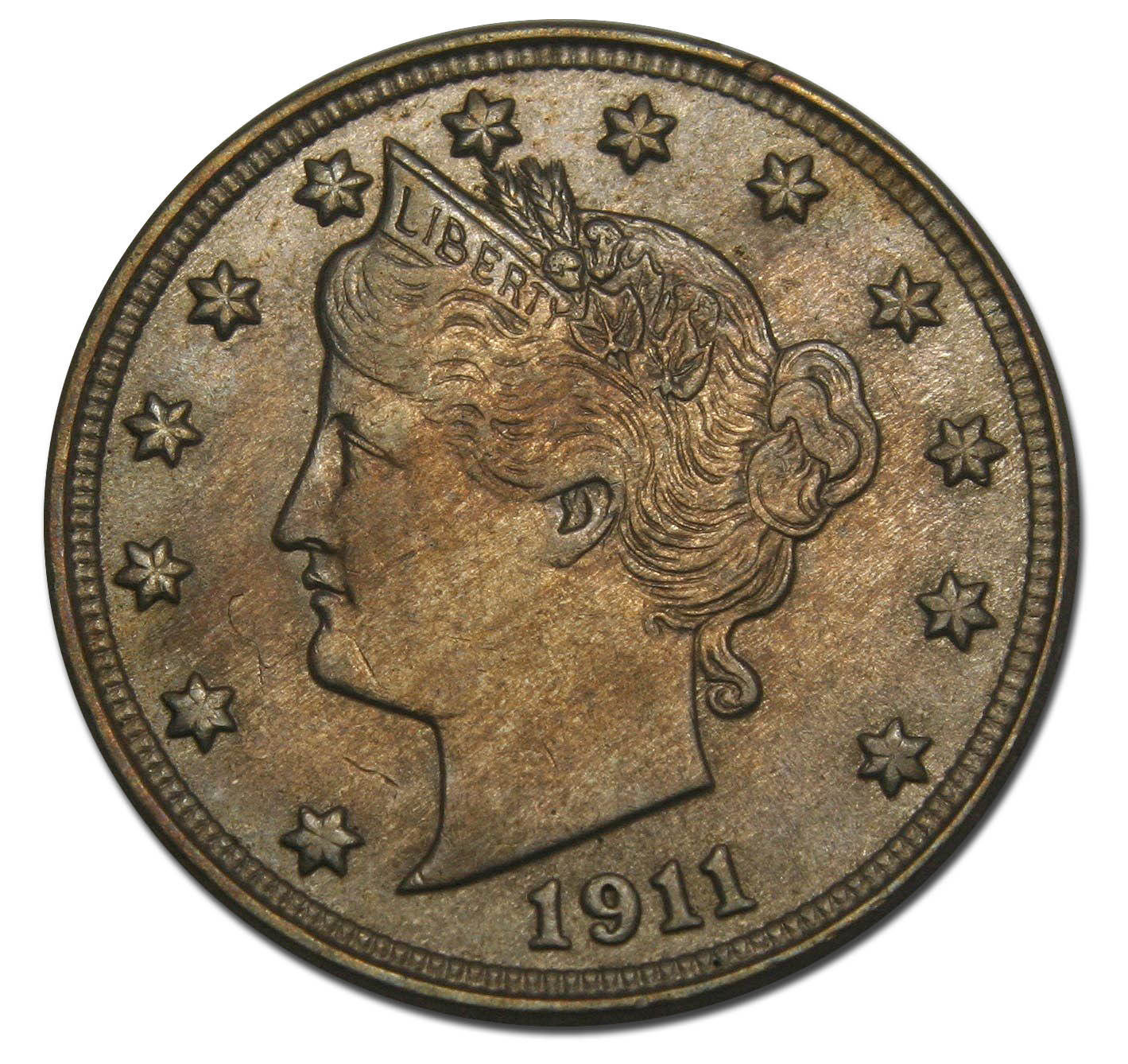 1911 V Nickel Liberty Head 5¢ Coin Lot# F 334