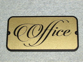 Office Wood Door Sign Gold And Black - $19.95