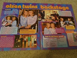 Mary Kate & Ashley Olsen teen magazine pinup clipping Full House Tiger Beat Bop
