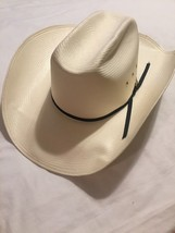 Resistol Shantung Panama Long Oval Cowboy Hat Vinylcote WipeNWear 6 7/8 ... - $24.25