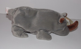 Ty Beanie Baby Spike Plush 7in Rhinoceros Stuffed Animal Retired with Ta... - $9.99