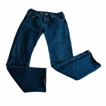 levi 501 mens jeans 33x34 button fly tapered leg denim work pants - $18.49