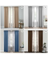Mainstays 4pc Rod Pocket Curtain Panel 2 Solid Panels and 2 Fashion Sheers  - $19.99