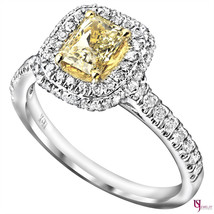1.19 TCW Radiant Yellow Diamond Engagement Ring 18k White Gold - €2.049,38 EUR