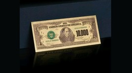 <GOLD CERTIFICATE MINT UNC.> GOLD Rep*$10,000 Banknote ~CLEAR RAISED DETAI - $11.62