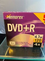 New Sealed Memorex DVD+R 5 Pack - 4x 4.7 GB 120 minutes PC Home Or Video... - $9.89