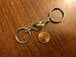 Open Heart Double Heart Keyring, Costume Silver Tone - $19.00