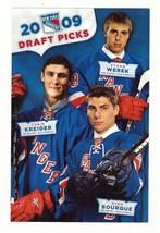 NHL 2009 NY RANGERS DRAFT PICKS TEAM ISSUE PHOTO- Kreider,  Werek &  Bo... - $20.00