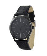 Black Minimalist Watches with Long Stripe Watch for Men Watch for Women - $36.00