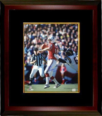 Primary image for Steve Grogan signed New England Patriots 16X20 Photo Custom Framed