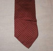 """Christian Dior Tie Necktie Polka Dot Brown White 53""""  Mays of Michigan All Silk - $12.67"""