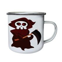 Scary Halloween Pumpkin Retro,Tin, Enamel 10oz Mug q158e - $246,74 MXN