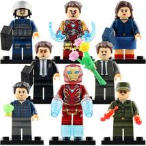 8pcs Avengers Endgame - Tony Howard Stark Peggy Carter Steve Rogers Minifigures - $14.98