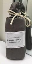 Restoration Hardware Stonewashed Cotton Linen Standard Sham Graphite NEW $79 - $37.99