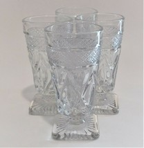 4 Imperial Glass Ohio Cape Cod Clear Goblets Juice Glasses (1602 + 160) ... - $39.60