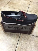Timberland Men's CLASSIC 2-EYE BOAT Shoes Black 1005R a1 - $72.75