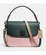 Coach cassie 19 Leather crossbody Satchel in colorblock ~NWT~ Green Pink... - $222.75