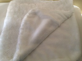 Blankets And Beyond White Blanket Fleece Rosette Swirl - $24.75