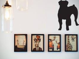 Boerboel Silhouette  Die Cut Vinyl Wall Decal (Removable Sticker) - $8.95+