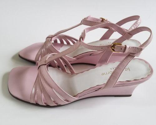 e5d51dc5269 12. 12. Previous. Liz Claiborne Flex Carrie T Strap Shoes Leather Medium  Wedge Heels Pink Sz 6.5