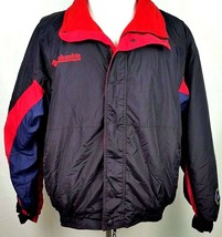 Columbia Mens Jacket Size Large Premier Outdoor Series Black Red Blue Zi... - $59.35