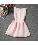 Pink Short Child Skirts2018 O-Neck Flower Girl Dresses Ruffle Formal Par... - $23.40