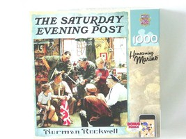 The Saturday Evening Post Jigsaw Puzzle Signature 1000 Norman Rockwell  - $12.19