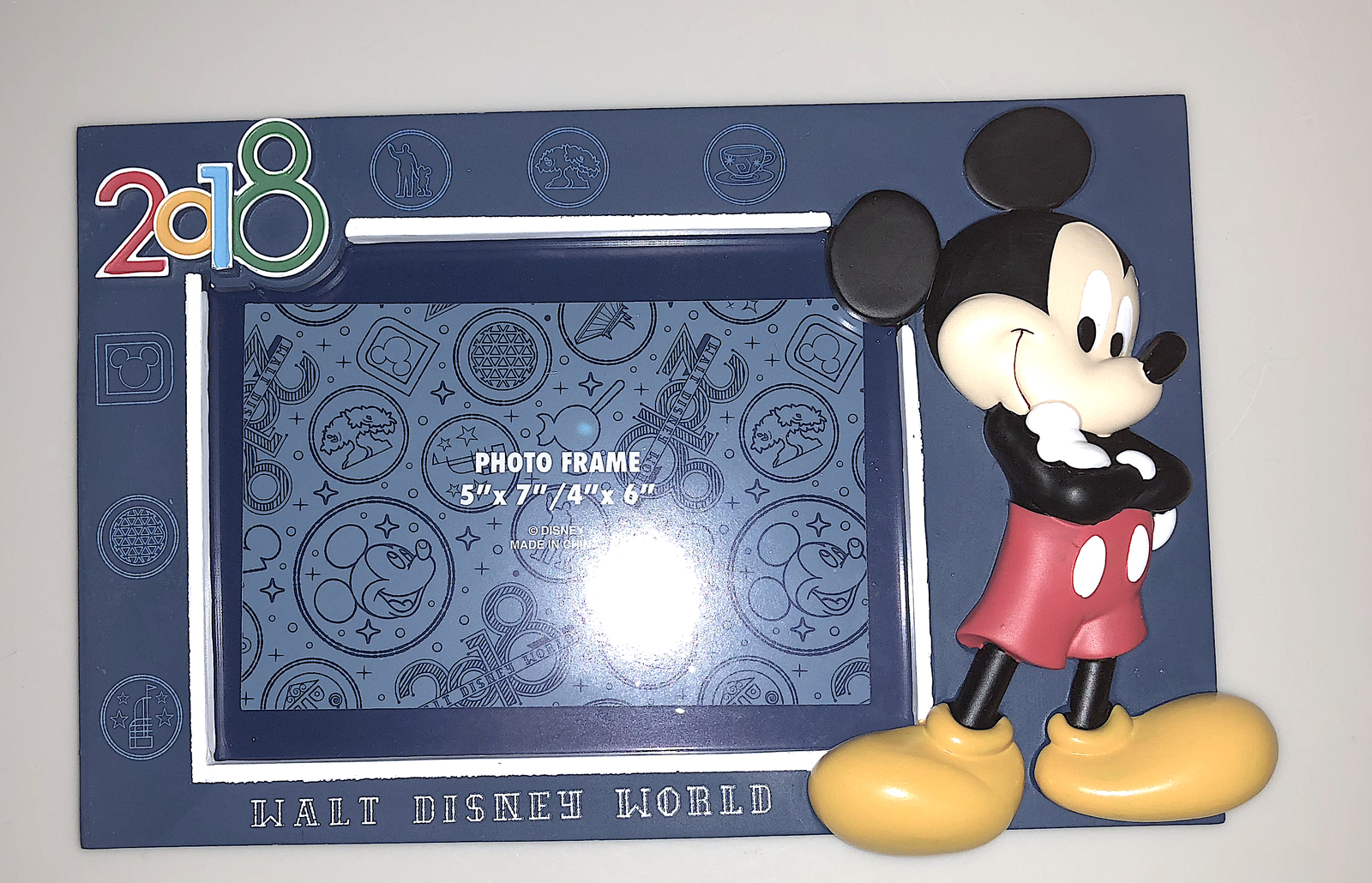 Walt Disney World 2018 Mickey Mouse Photo Frame for 4 x 6 or 5 x 7 ...