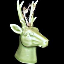 Lowes Holiday Living Ceramic Deer Reindeer Head Christmas Tree Ornament ... - $18.99