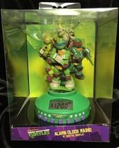 New Teenage Mutant Ninja Turtles Alarm Clock Radio Digital Display TMNT ... - $28.05