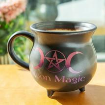 Moon Magic Witch Cauldron Glazing Ceramic Porcelain Coffee Mug Soup Bowl - $18.80