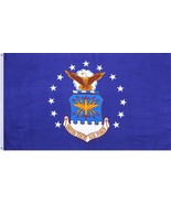 US Air Force Flag Blue 3' x 5' Officially Licensed Emblem Military USAF ... - $24.99