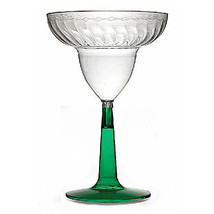 12 oz Plastic Waves Margarita Glass with Green Base/Case of 96 - $145.31