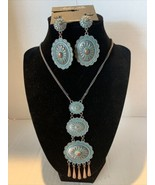 """Amber's Allie 28"""" Rustic Turquoise Neckless with Matching Earrings - $24.14"""