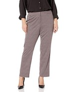 Nine West Women's Plus Size Skinny Houndstooth Pant, Porto Multi 20W - $31.68
